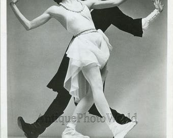 Allegra Kent and Jacques dAmboise in Tchaikovsky Suite ballet vintage photo
