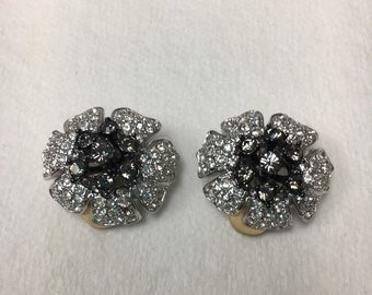 Nolan Miller Clip On Earrings - Pave Crystal  - S2436