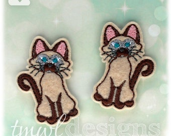 Siamese Cat Felties Digital Design Files - 1.75""
