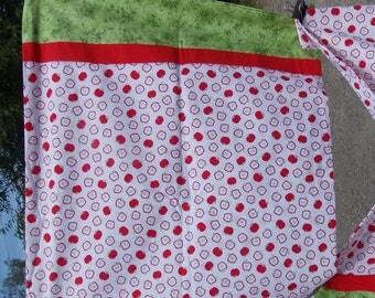 Little Red Apples Pillow Case