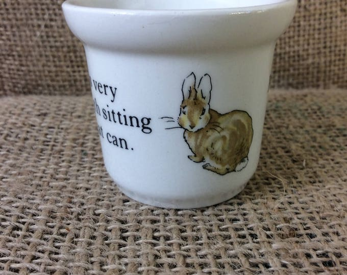 Beatrix Potter Designs Peter Rabbit tiny cup from Wedgwood of Etruria and Barlaston vintage Peter Rabbit vintage wedgwood china childs decor