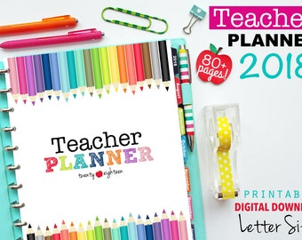 This is a graphic of Dynamic Free Printable Teacher Planner Pdf