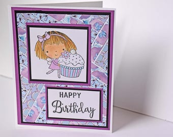 Handmade Greeting Card - Happy Birthday, Penny Black Stamp Sweet Thing