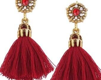 Garnet jeweled earrings
