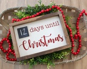 Christmas Countdown Sign   Days Until Christmas   Christmas Decor   Farmhouse Style Sign   Rustic Wooden Sign   Christmas Sign
