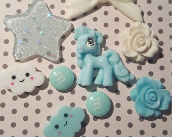 DIY kawaii deco kit: pony theme for cases or crafts
