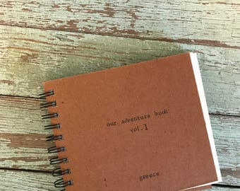 Hand-Stamped Custom Photo Adventure Book