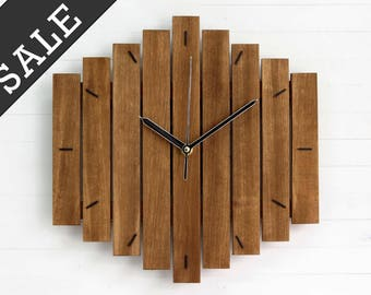 SALE - Wall Clock, BIG ROMB Clock, Industrial Wall Clock, Decorative Wall Clock, Oversized Clock, Steampunk Wall Clock, Large Clock