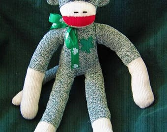 Sock Monkey Seamus from Ireland Stuffed Animal Toy Plush Doll