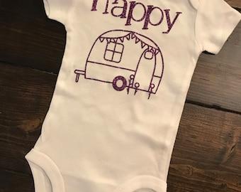 Happy Camper Baby Onesie - Happy Camper - Onesie - Baby Onesie - Wacky Onesie
