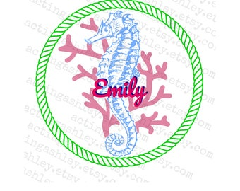 Personalized Sea Horse Cruise Door Magnet