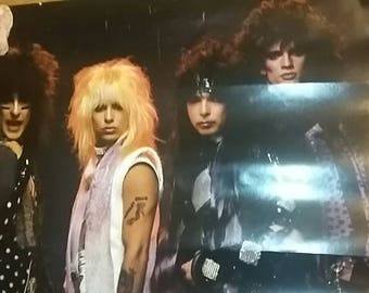 Motley Crue Poster 1980's Nikki Sixx Vince Neil Mick Mars Tommy lee original poster vintage Theatre of Pain