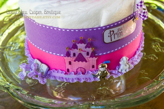 Princess Diaper Cake - Diaper Cake Girl - It's a Girl - Baby Shower - Diaper Cake - Baby Girl Shower - Baby Shower Centerpiece - Baby Cake