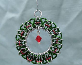 Chainmaille Wreath Ornament - Multiple Color Options