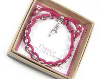 Ballet Shoes Charm Bracelet, Ballet Bracelet, Dance Jewelry,  Dancer Bracelet, Ballerina Bracelet, Gift for Ballerina, Dance Recital Gift