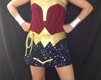 Wonder Woman inspired running outfit