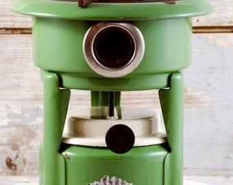Vintage antique Dutch  Haller Single Wick Burner Kerosene Stove green enamel