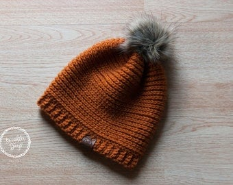 Simple & Perfect Fur Pom Slouch Beanie - 26 Colors!