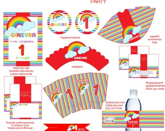 Rainbow printable party