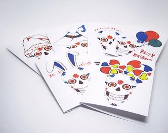 Variety Pack of Sugar Skull Greeting Cards