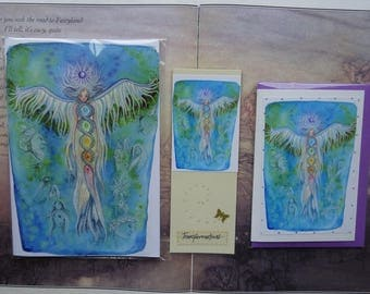 Transformations Notebook, Handmade Bookmark and Card Gift Set