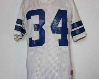 b13db453b81 ... Vintage Dallas Cowboys Herschel Walker Sand Knit NFL Jersey M ...
