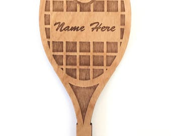 Personalized Wood Tennis Ornament