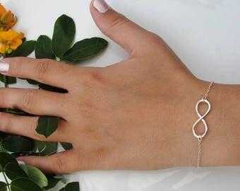 100% Sterling Silver Infinity Bracelet, Silver Infinity Bracelet, Infinity Bracelet, Infinity charm Bracelet ,forever Bracelet
