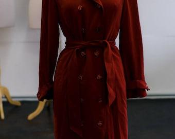 vintage orange trench coat