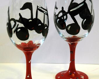 Music Note Wine Glass