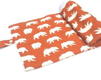 Bear Blanket - Gender Neutral Baby Blanket - Woodland Nursery Bedding - Baby Blanket - Bear Crib Bedding - Pacifier Blanket - Minky Blanket