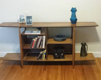 Teak Stereo/Book  Shelf