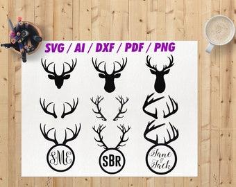 Deer antlers svg / Antler svg / Antlers svg / Deer antler svg / Deer antlers /  Deer antlers png / Deer antlers cricut file /