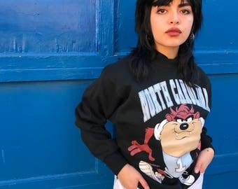 UNC Tarheels Taz crewneck sweatshirt 1993