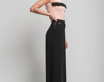 Sofia Wide leg pant in black