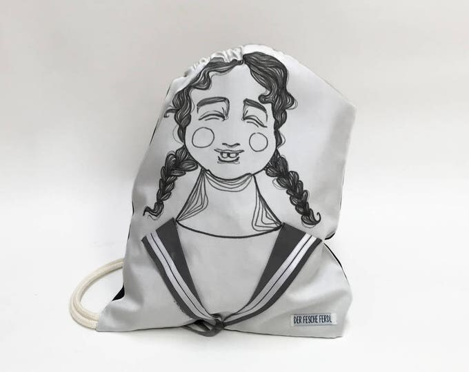 Sailor Bag LYDIA - Drawstring backpack with Sailor Collar