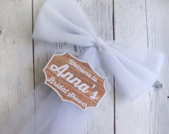 Wood Bridal Shower Welcome Sign-Multiple Colors-Bridal Shower Decor-Wood sign-Welcome Shower-Bachelorette Party Decor-Door Mailbox decor
