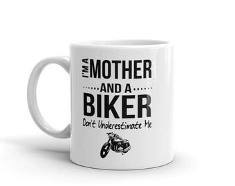 Mother and a Biker Coffee Mug for Women Motorcycle Enthusiasts Rider Motorbike Christmas Birthday Gifts
