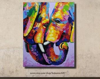 60 x 76 cm, Elephant Painting wall decor