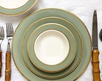 Service for 12 / Taylor Smith Taylor Dinnerware Set
