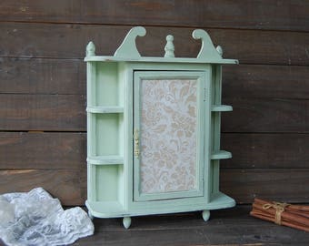 shabby chic wall cabinets for the bathroom wall cabinet etsy 26270