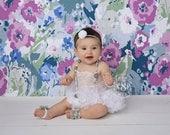 Sitter White Tutu Dress, 6-12 Month Photography Props, Sitter Session, Baby Tutu, White Tutu, Cake Smash Tutu, Photo Prop Romper