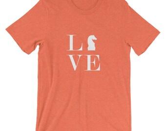 Short-Sleeve Unisex T-Shirt - Live Love Chess White Knight T-Shirt