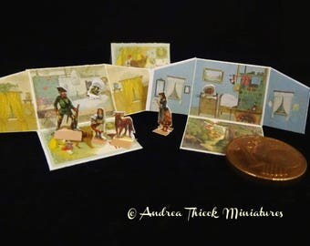 """Vintage Miniature Book - 1/12  - Theatre Book """"Red Riding Hood"""""""