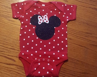 Disney Family Shirts/Mickey Mouse/Minnie Mouse/Onsie/Glitter/Inspired with Glitter option Available Personalized