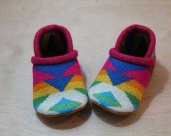 Baby Shoes Made From Pendleton® Wool -  Moccasins - Baby Booties