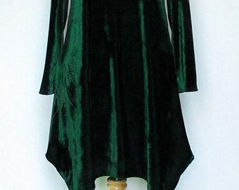 Winter Christmas Pine Green velvet dress