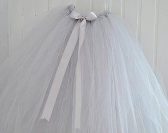 Adult Tutu Skirt, Grey Tutu, Tulle Skirt, Women Tutu, Bridesmaid Tutu, Wedding Tutu, Long Tutu Skirt, Prom Tutu, Tulle Tutu, Hen Party Tutu