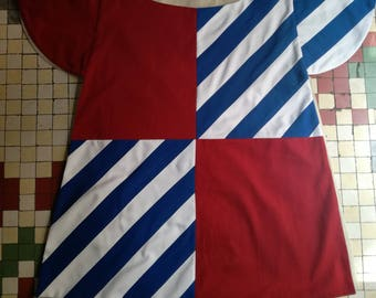 Heraldic surcoat made in cotton for historical reenactment of the 14th - 15th century