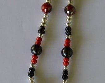 Card Pendant Bead Necklace